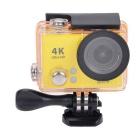 "2"" LCD 12MP 1080P Wi-Fi Waterproof Action Camera - Yellow"