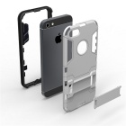 Hybride Slim Armor Case Hard PC + TPU Dual Back Cover voor iPhone 5 / 5S - Zilver