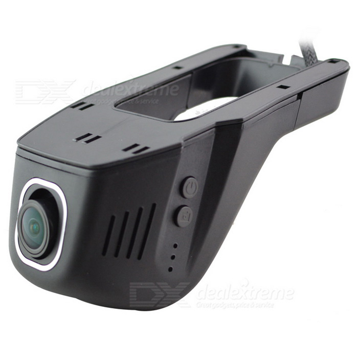Universal Invisível 96658 IMX 322 Wide-Angle 1080P Wi-Fi Car DVR Gravador de Vídeo Camera - Black
