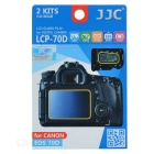 JJC LCD Guard Film Screen Protectors for Canon 70D Digital Camera