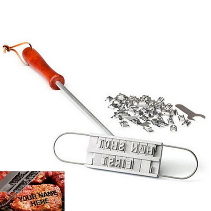 Lettres anglaises BBQ Branding Iron - Argent