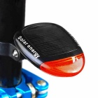 Solar Powered 3-Mode 2-LED Red Light Cycling Rear Safety Warning Bicycle Light