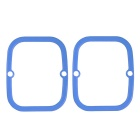 Silicone Drift Board Skateboard Side Guards / Edge Protectors Set - Blue (2pcs)