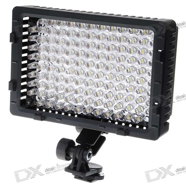 7.6W 126-LED 520LM 5400K Video Light with Three Filters for Panasonic CGR-D16S + More