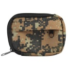800D Nylon Water Resistant Mini Outdoor Accessories Bag / Carry-on Change Wallet - Ruins Camouflage