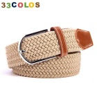 Unisex Simple Elastic Weave Belt - Khaki (NO.2)