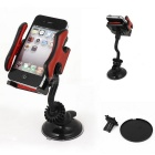 Car Windshield Mount 360 Degree Cell Phone GPS MP4 Navigation Holder - Black + Red