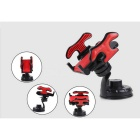 Bil frontrutefestet 360 Degree Cell Phone GPS MP4 Navigation Holder - Svart + Red