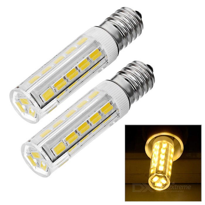 E14 7W LED Bulb Lamp Warm White Light 3200K 600lm 33-SMD 5730 (AC 220V / 2PCS)
