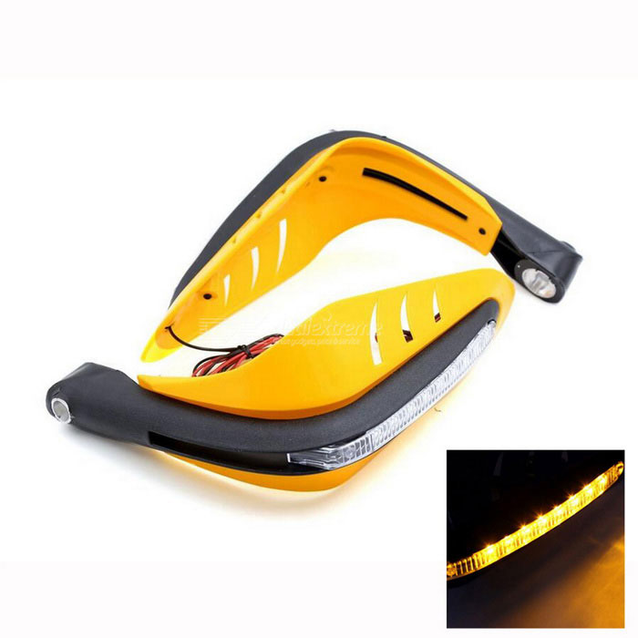 Carking LED amarillo de la motocicleta Scooter guardamanos de 12mm Manillar - Amarillo