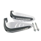 CARKING Yellow LED Motorcycle Scooter Hand Guards for 12mm Handlebar - White