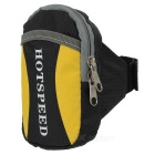 HOTSPEED Outdoor Cycling Running Water-Resistant Armband Case Pouch Arm Bag - Black + Yellow