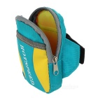 HOTSPEED Outdoor Cycling Running Water-Resistant Armband Case Pouch Arm Bag - Blue + Yellow