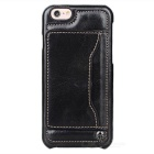 Caseme Protective PU Leather Case w/ Card Slot / Stand for IPHONE 6S - Black