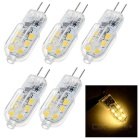 G4 1.5W LED Bulb Lamp Warm White Light 3200K 120lm 12-SMD 2835 (DC 12V / 5PCS)