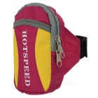 HOTSPEED Outdoor Cycling Running Water-Resistant Armband Case Pouch Arm Bag - Deep Pink + Yellow