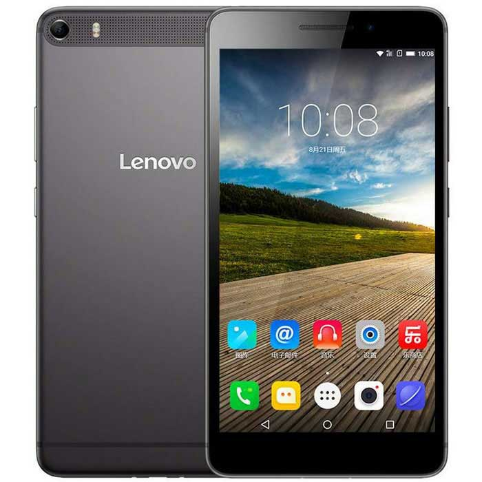 "Lenovo PHAB plus Android 5.0 MSM8939 Octa-Core 4G 6.8 ""Tablet PC w / 2 Go + 32 Go + 5MP 13MP - Gris"