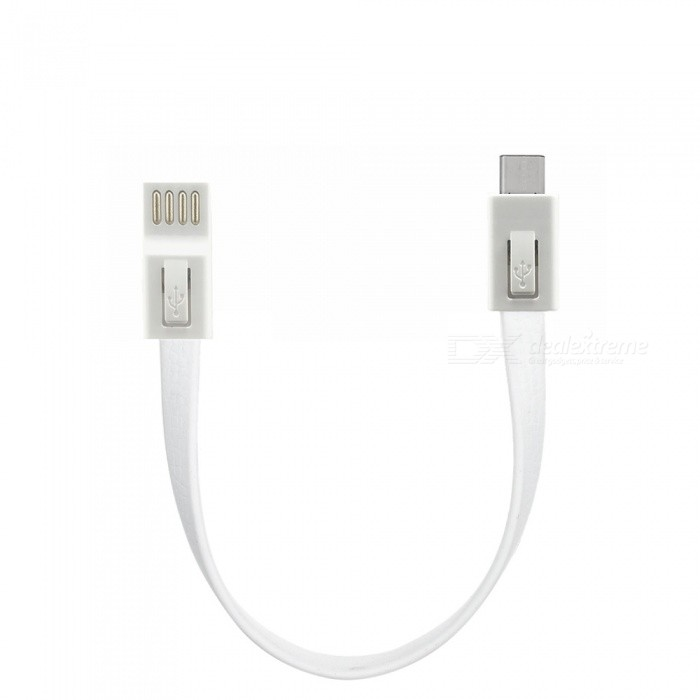USB 3.1 tipo C macho a USB 2.0 macho cable plano - blanco (18 cm)