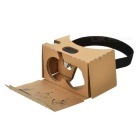 Google Cardboard 2.0 VR Smart 3D Glasses for 6 inch Phone w/ Headbelt Conductive Button - Khaki