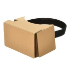 "Cardboard 2.0 VR 3D Glasses for 6"" Phone w/ Headbelt Conductive Button"