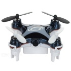 2.4GHz 4-CH Mini RC Quadcopter w/ 0.3MP Camera & Wi-Fi Real-Time Transmission & Lamp - Black + White