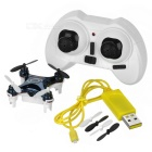 2,4 GHz 4-CH Mini RC Quadcopter w / 0.3MP Camera & Wi-Fi werkelijk-Time Transmissie & Lamp-Zwart + Wit