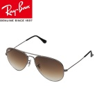 Genuine Ray-Ban RB3025 004/5158M Pilot Series UV400 Protection Sunglasses - Iron Grey + Tawny