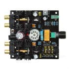 12AU7 & 6N11 Valve Tube HiFi Headphone Preamp Preamplifier Amplifier - Black