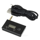 "0.65"" LCD 3.5mm Car FM Transmitter & MP3 Stereo Music Player Adapter w/ Charging Cable - Black"