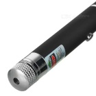 5mW Starry Star 532nm Green Laser Pointer Pen - Black + Silver (2 x AAA)