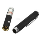1mW Starry Star 650nm Red Laser Pointer Pen - Black + Silver (2 x AAA)