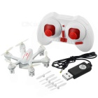 MJXR/C X901 2.4GHz 4-CH 6-Axis Gyro Remote Control R/C Hexacopter w/ Lamp / 3D Tumble - White + Red