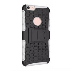 ABS protectora Contraportada Armor Case w / Stand para IPHONE 6S plus - Blanco + Negro