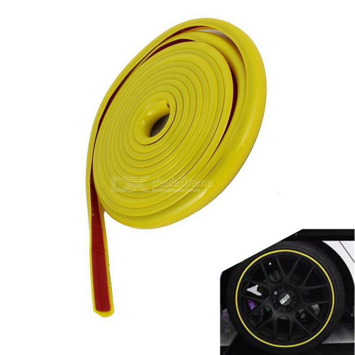 4m Adhesive Orament Car Moulding Trim Strip -Yellow