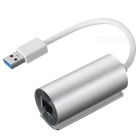 Aluminum Alloy USB 3.0 to RJ45 1000Mbps Gigabit Network Ethernet LAN Adapter Card - Silver