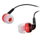 3.5mm In-Ear Earphones Headphones w/ Clip / Mic for Samsung / IPHONE / Huawei / Xiaomi - Black + Red