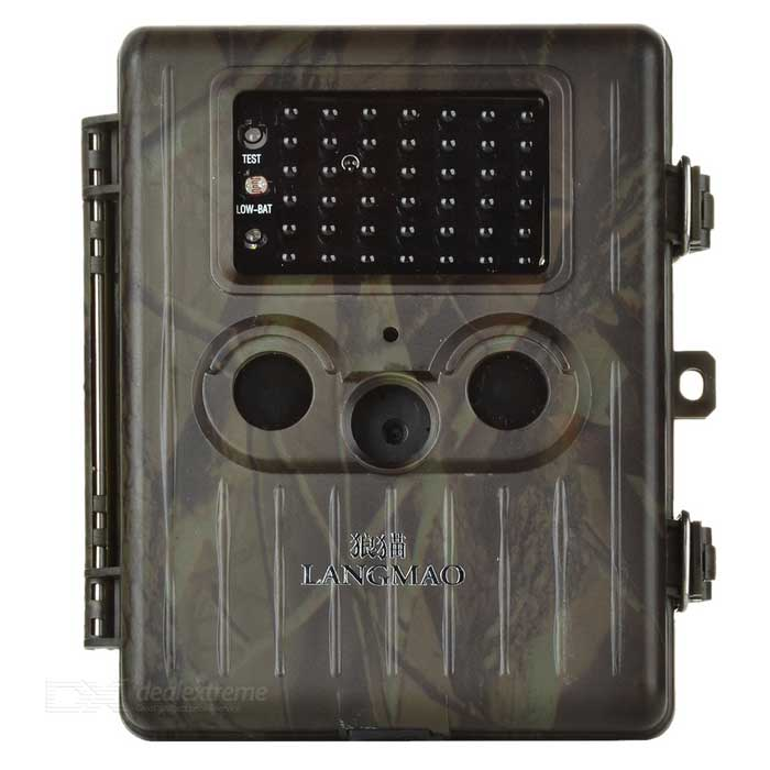 "LANGMAO HT-002LI 2.5"" TFT 1080P Infrared Wildlife Scouting Trail Hunting Video Camera - Camouflage"