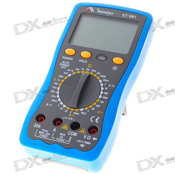"ET-981 3.0"" LCD Handheld Digital Multimeter (Voltage + Current + Resistance /1*6F22 9V)"