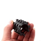 ACCU TS15 Universal Aluminum Alloy Half Pipe Clamp for 20MM Rail Gun - Black
