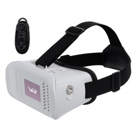 """Virtual Reality 3D Video Glasses w/ BT Mouse for 3.5~6.0"""" Phone -White"""