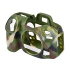 Durable Silicone Protective Case Cover Housing Cage for Nikon D7100 DSLR Cameras - Green Camo