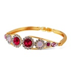 Xinguang Women's Colorful Crystal Bracelet - Golden