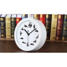 Creative Fashionable Desk Table Mute Silent Alarm Clock - White