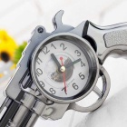 Revolver Design Alarm Clock - Light Brown
