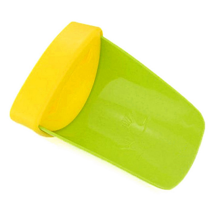 Washing Hands With Auxiliary Guide Children Sink - Green + Yellow