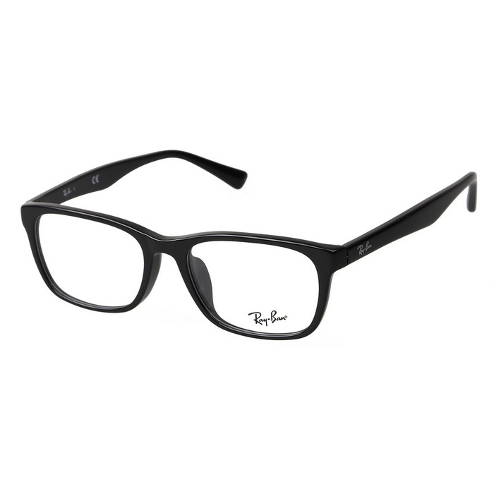 RAYBAN RB5315-D Unisex Full-Rim Cellulose Acetate Plain Spectacles Frame for Myopia Glasses - Black