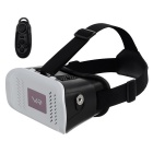 "3D VR Video Glasses w/ BT Mouse for 3.~-6.0"" Phone - White + Black"