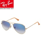RAYBAN RB3025 001/3F 55M UV400 Protection BeCu Frame G15 Glass Lenses Sunglasses - Golden