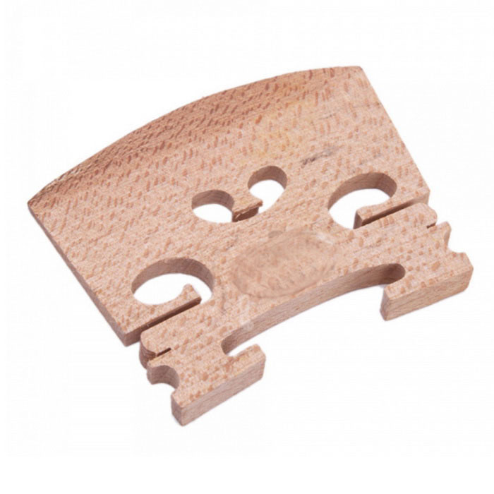 Maple Wood 1/2 Violin Bridge - WoodInstruments Parts<br>Form  ColorBurlywoodMaterialMapleQuantity1 DX.PCM.Model.AttributeModel.UnitShade Of ColorBrownCompatible ModelsViolinOther FeaturesSuitable for 1/2 violinPacking List1 x Violin bridge<br>