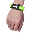 Outdoor Survival Parachute Cord Bracelet w/ Flintstone / Whistle / Compass / Scraper - Green